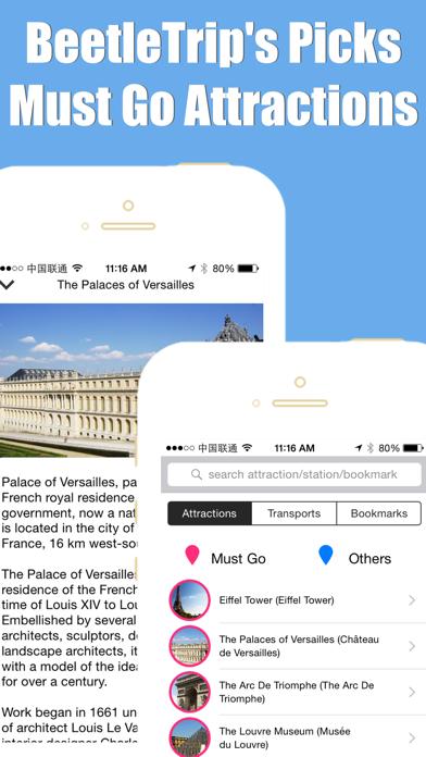 フランスのパリ電車旅行ガイドとオフライン地図, BeetleTrip Paris travel guide with offline map and ratp rer metro transitのおすすめ画像5