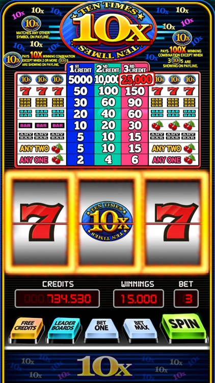 10 times pay slots graton casino free slot play