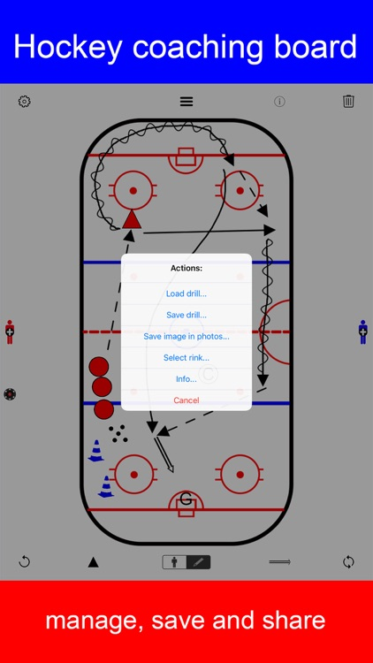 Hockey coaching board