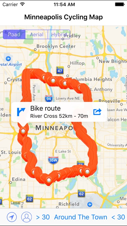 Minneapolis Cycling Map