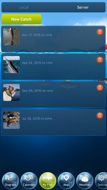 Fishing Deluxe - Best Fishing Times Calendar screenshot-4
