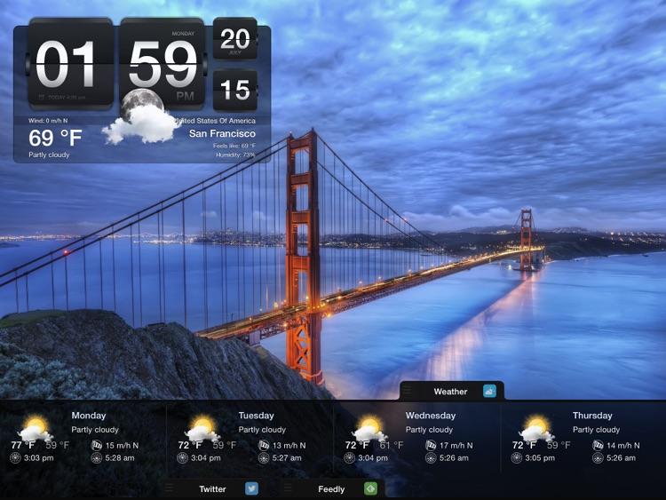 Night Stand for iPad - Social Reader, Weather & Alarm Clock screenshot-4