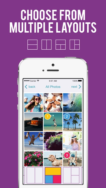 Photo Collage Portrait Studio: Cool patterns, effects, grids, frames + layouts