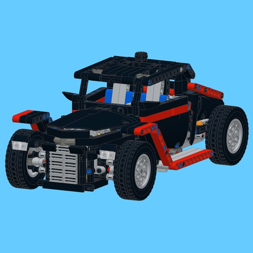 Retro Car For Lego Technic 9395 Set Building Instructions By
