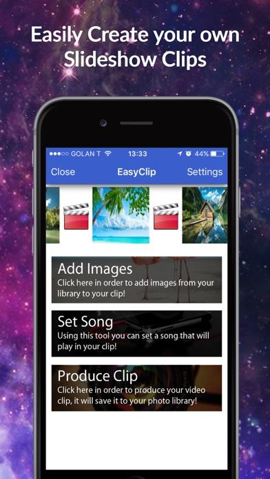 EasyClip - Bild Diaschau Clip Movie Maker CreatorScreenshot von 1