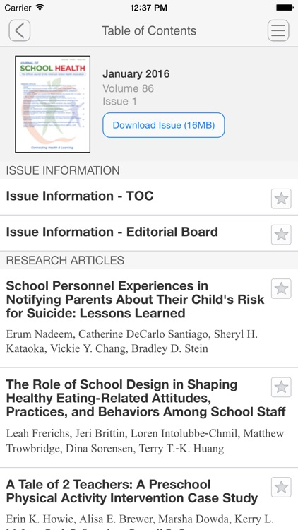 Journal of School Health screenshot-3