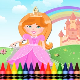 Princess Coloring Book - Amazing draw paint and color games HD