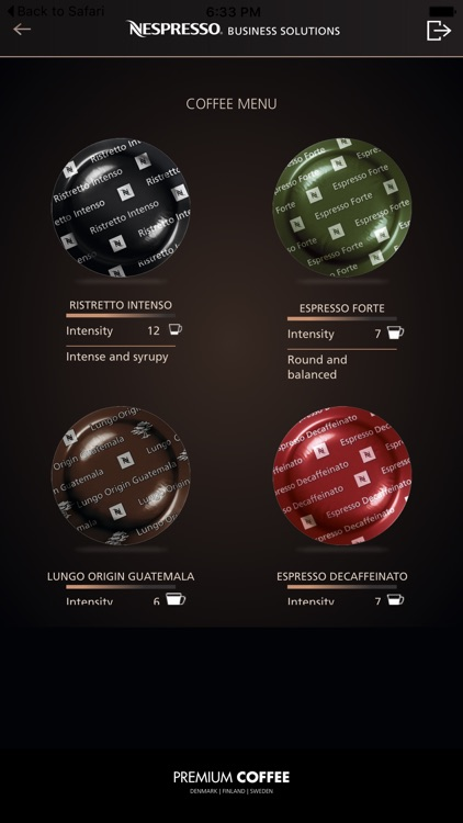 Nespresso pay application for professional vending for Nespresso professional kapseln
