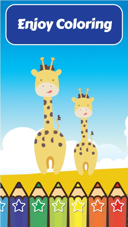 Coloring My Cute Wild Animals for Preschool boy and girl