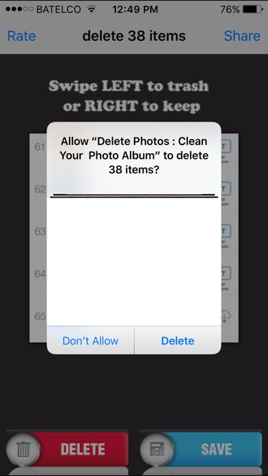 Delete Photos : Clean Your  Photo Album app image