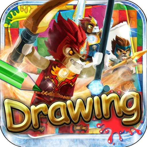 Drawing Desk LEGO : Draw and Paint  Coloring Book Legends of Chima Edition