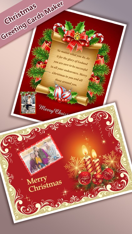 Christmas Greeting Cards Maker - Mail Thank You & Send Wishes with Greeting Frames plus Stickers screenshot-4