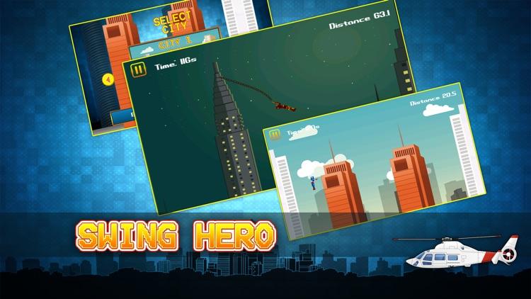 Swing Hero - Superhero Rope n Fly Adventure Game screenshot-4