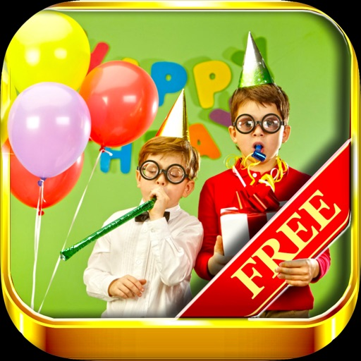 Invite'15: Free Collection of Happy Birthday ecards with text message editor iOS App