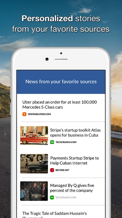 Glance - Personalized News From Your Favorite Sources
