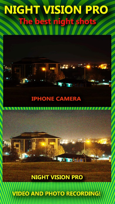 Night Vision True HDR - See In The Dark (NightVision Real In Low Light Mode) Green Goggles Binoculars with Camera Zoom Magnify (Video, Photo) and Private / Secret Folder Pro screenshot three
