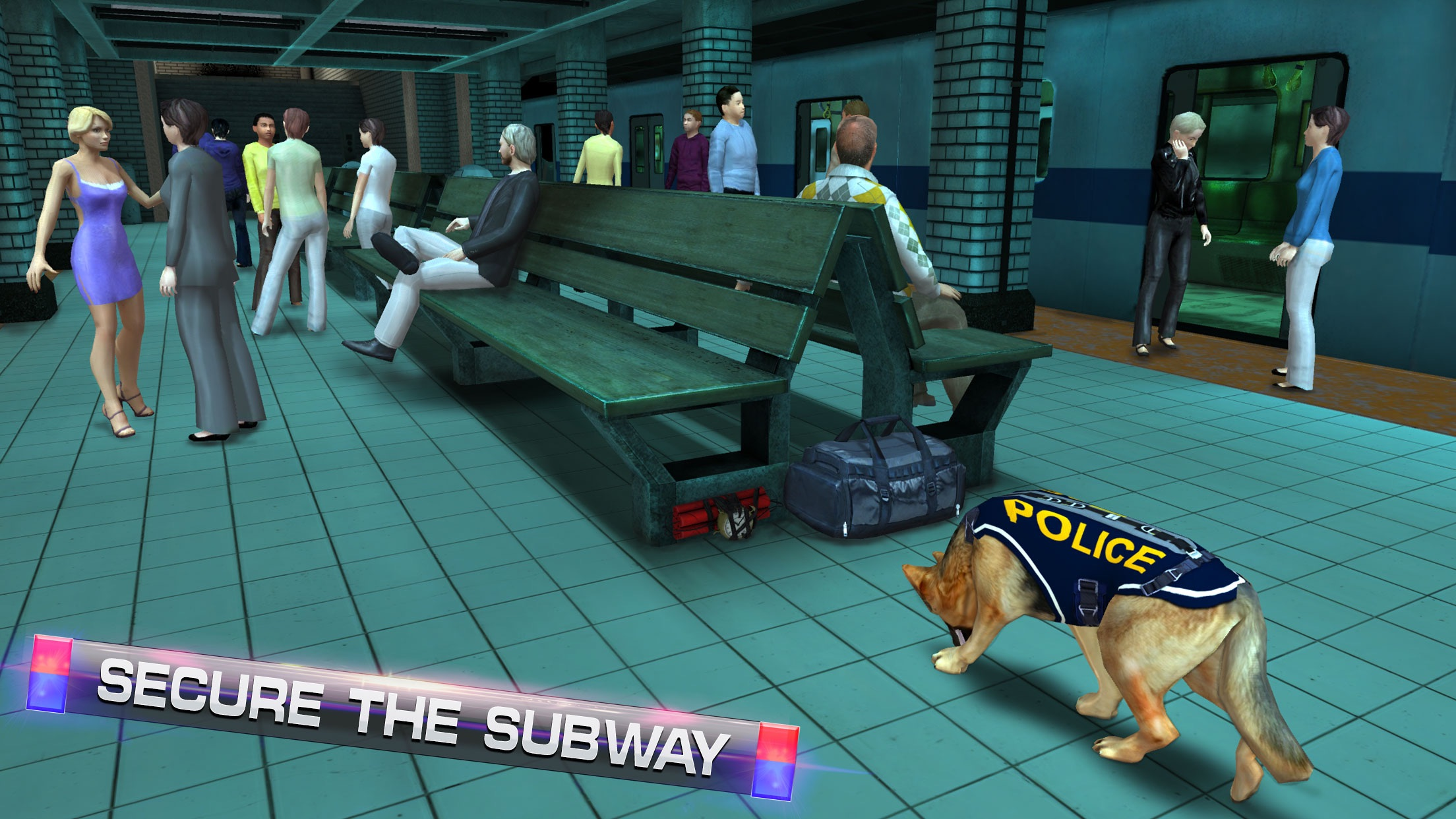 Subway Police Dog Simulator – Cop dogs chase simulation game Screenshot