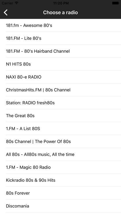 80s Music & Songs- Internet Online Radio Stations