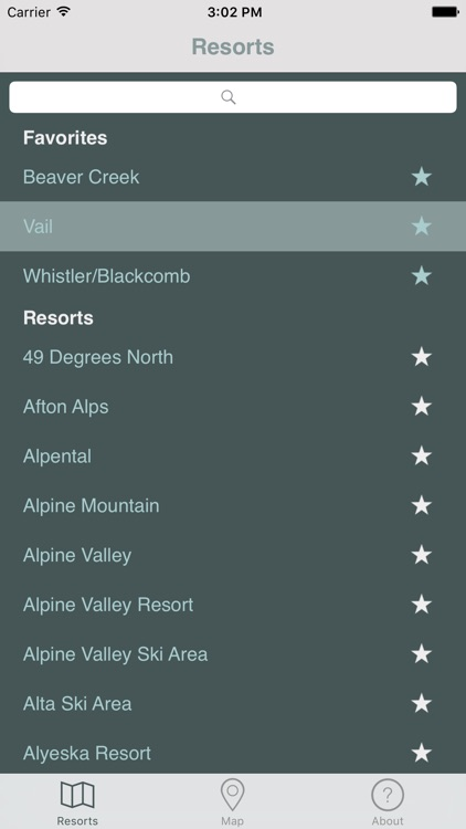 Ski Resort Trail Maps
