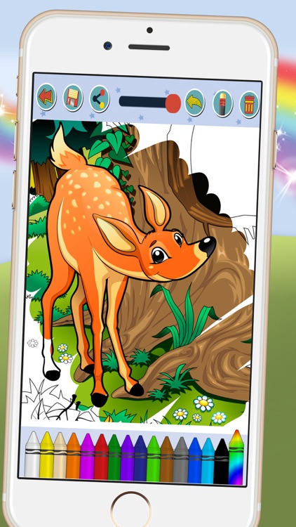 Paint animal - coloring book for kids