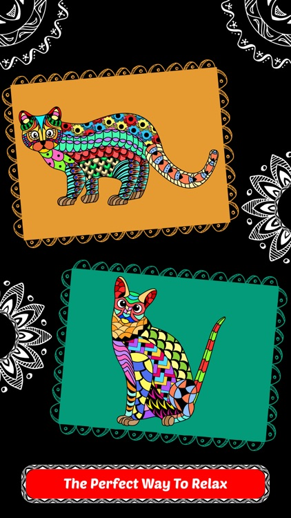 Creative Cats Art Class- Mindfulness Coloring Books for Adults screenshot-3