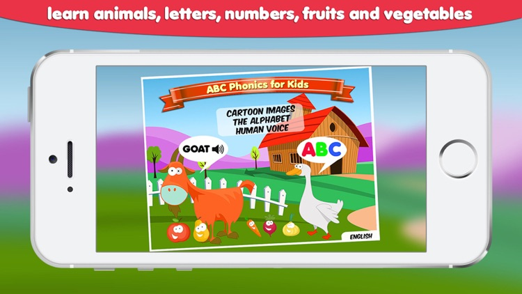 ABC Phonics for Kids - Get hooked on learning letters, numbers and words games Free