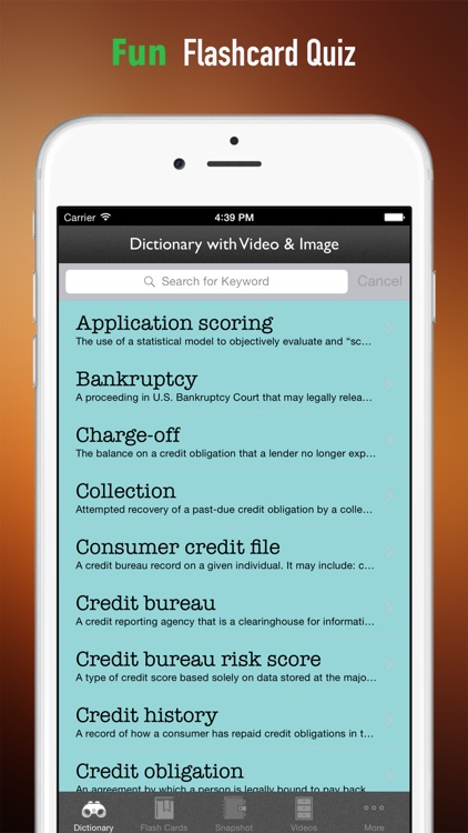 Understand Credit Report and Improve Your Credit Score: Glossary Reference with Video Guide screenshot-3