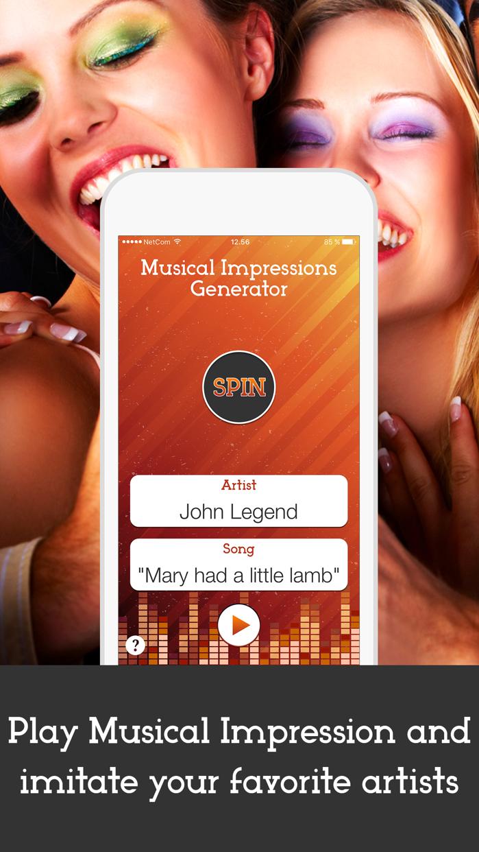 Wheel of Musical Impression - Sing Video Karaoke Like Jimmy Fallon Screenshot