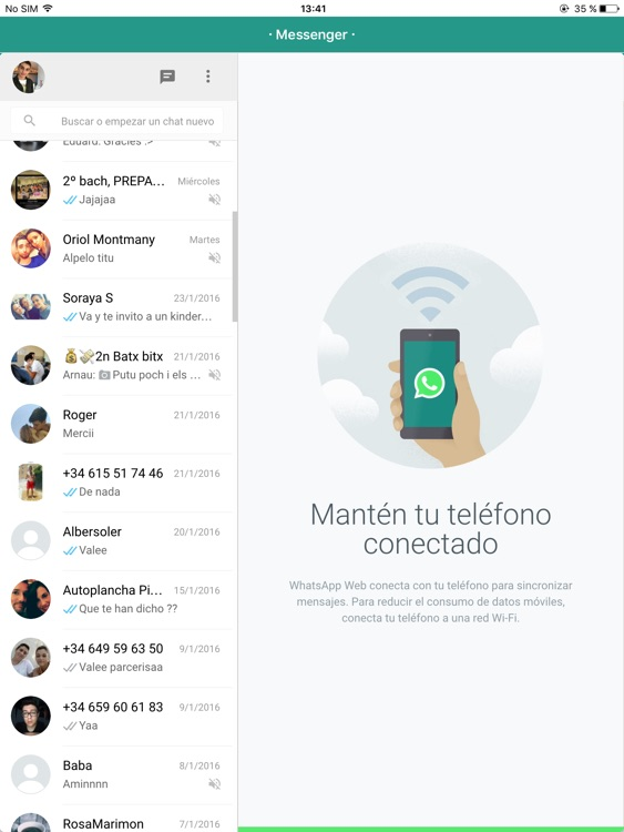 Messenger for WhatsApp - iPad Version - Free Version App screenshot-3