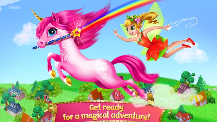 Princess Fairy Rush - Pony Rainbow Adventure screenshot-0