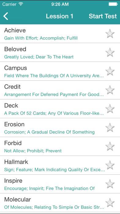 IELTS Vocabulary: 4000 Academic Words List screenshot three