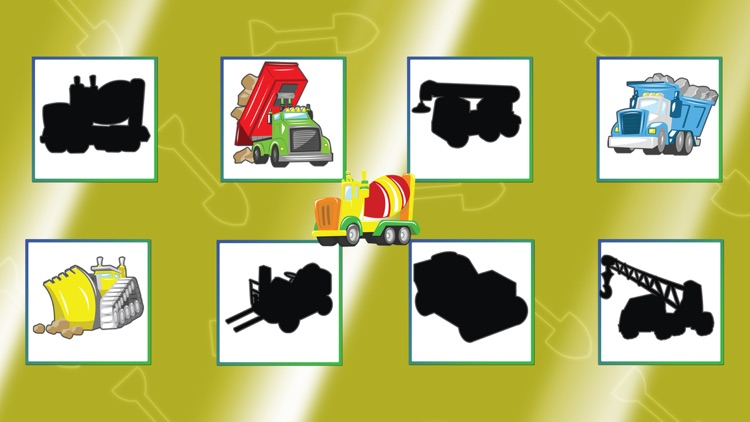 Trucks Cars Diggers Trains and Shadows Shape Puzzles for Kids