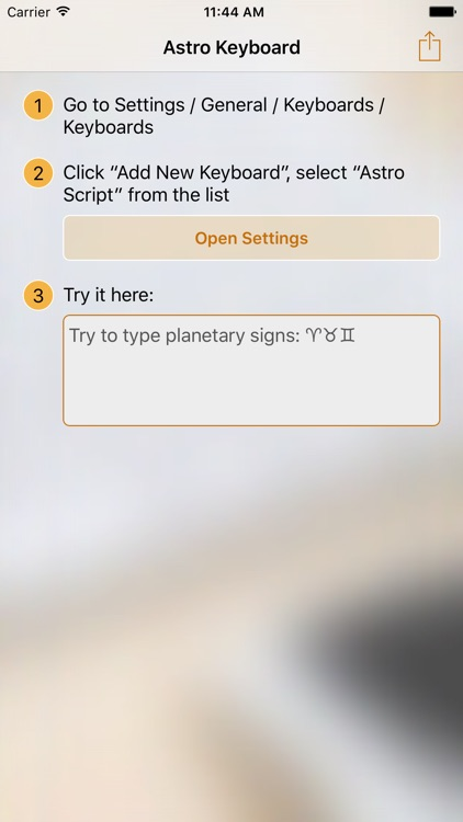 Astro Keyboard for Astrology and Astronomy