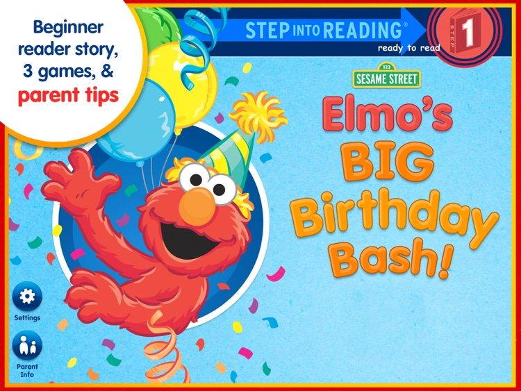 Elmo's Big Birthday Bash! – A Sesame Street Step Into Reading App screenshot-0