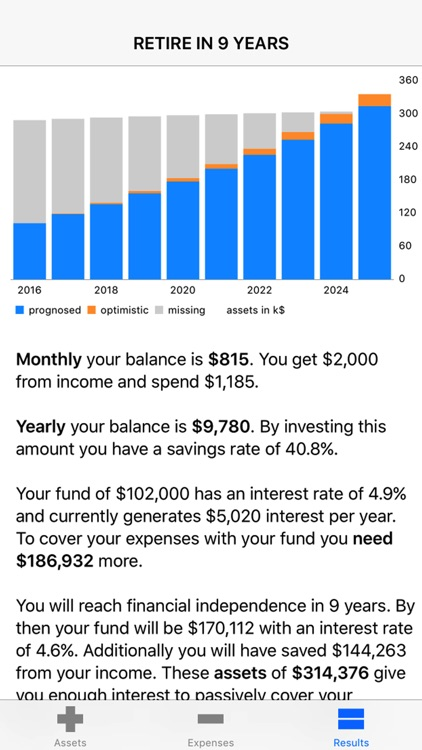 Retire — Early Retirement Calculator