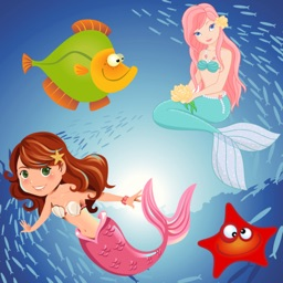 Mermaid Puzzles for Toddlers and Little Princesses - Princess of the Sea !