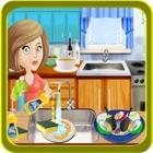 Kids Dish Washing & Cleaning - Play Free Kitchen Game icon