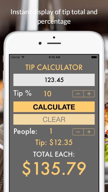TipCalc quick tip calculator
