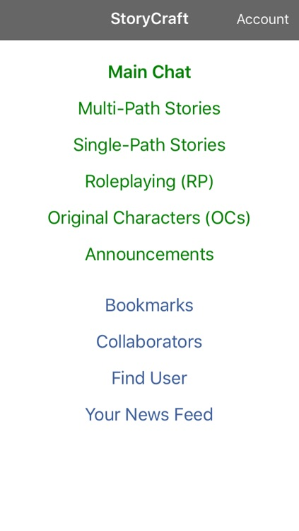 StoryCraft - collaborative story writing with choose your next action rpg play