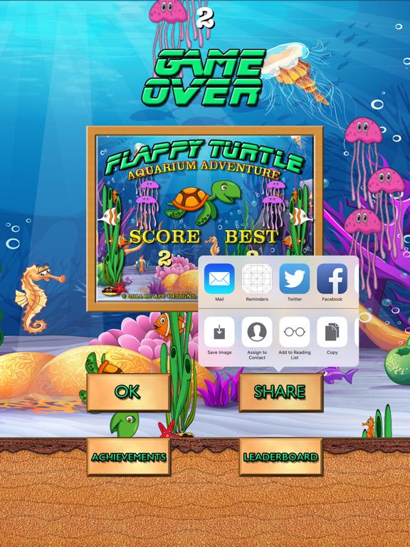 Flappy Turtle Aquarium Adventure screenshot