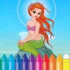 Mermaid & Sea Animal Coloring Book - Drawing for Kids Games icon
