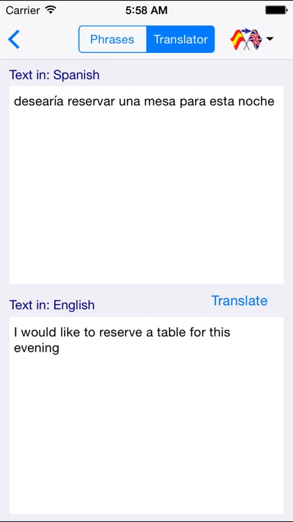 Spanish-English Restaurant Translator (Offline) screenshot-4