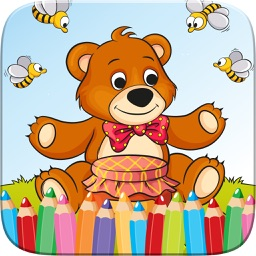 Teddy Bear Coloring Book Drawing for Kid Games