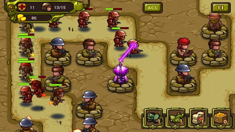 World War Tower Defense-Soldier Honor:Classical Sentinel Shooting Defense War Game screenshot-3