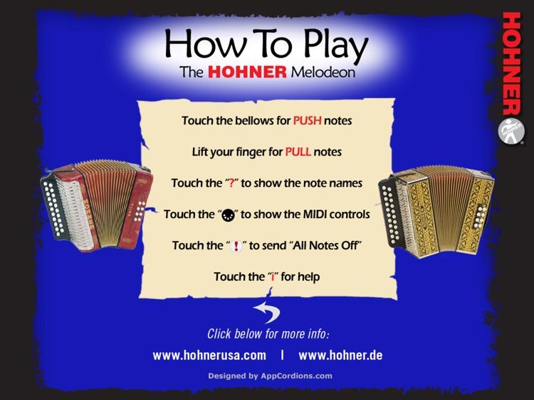 Hohner MIDI SqueezeBox - Three-Row Button Accordion MIDI Controller screenshot-3