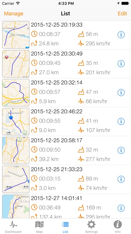 Speedometer Plus - Record distance, speed, acceleration and more... screenshot-1