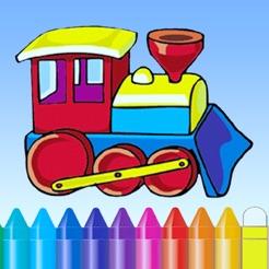 Tren Boyama Kitabı çocuk ücretsiz Oyunlar Için Sevimli çizim App