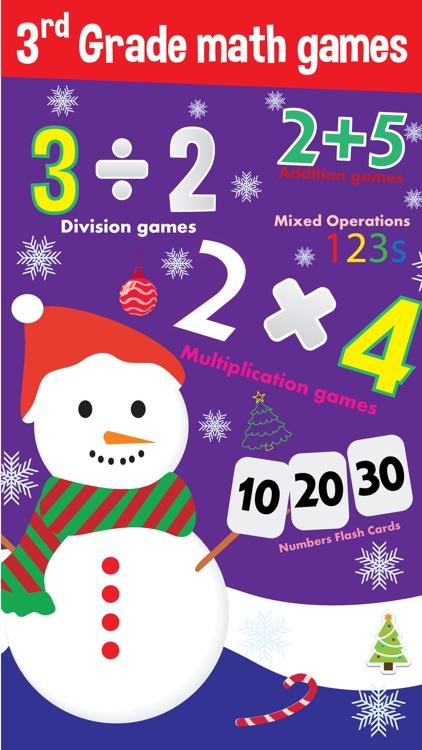 3rd grade math games - magic christmas star for fun kids