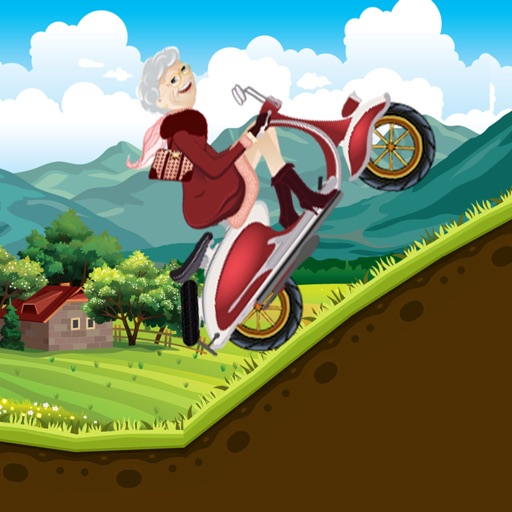 Fun With Crazy Granny In Hilly Climb Race