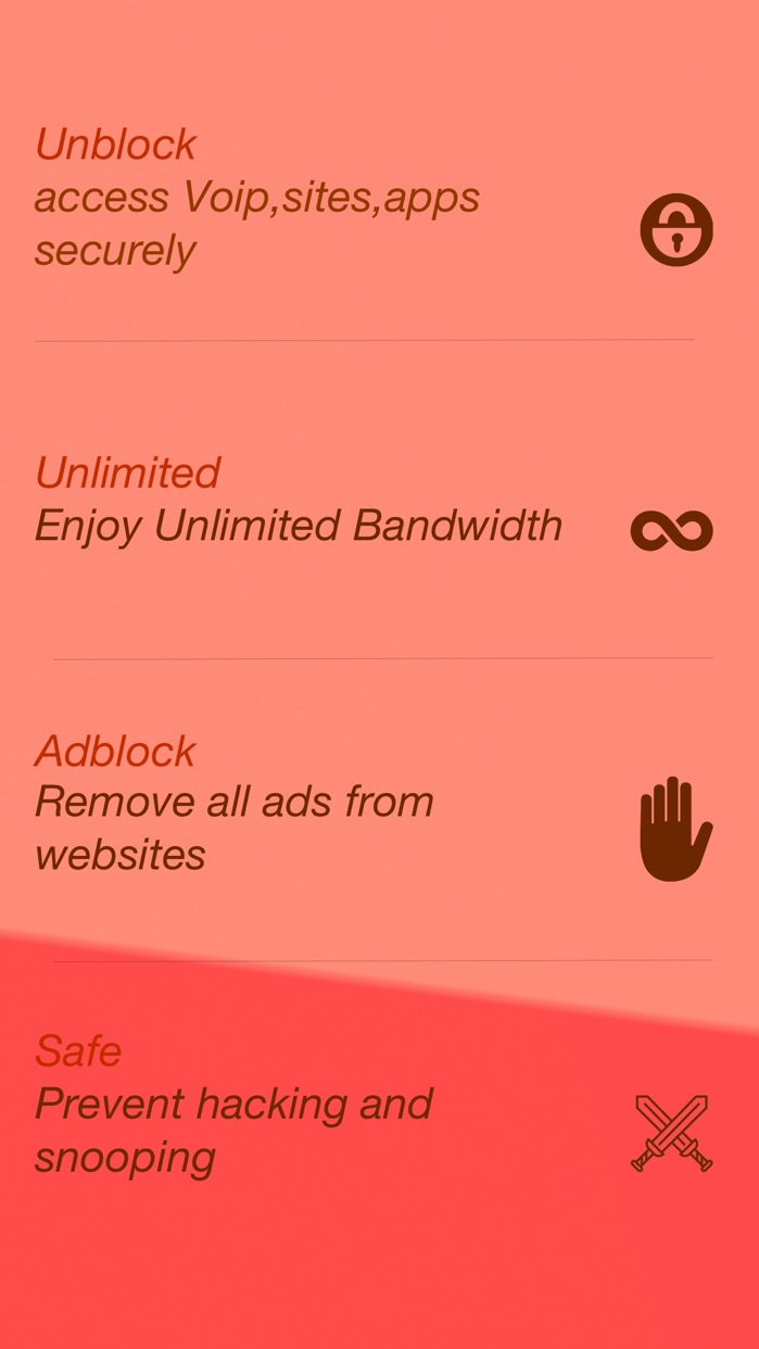 Unlimited VPN - Unblock all Websites And Prevent Hacking And Snooping Screenshot